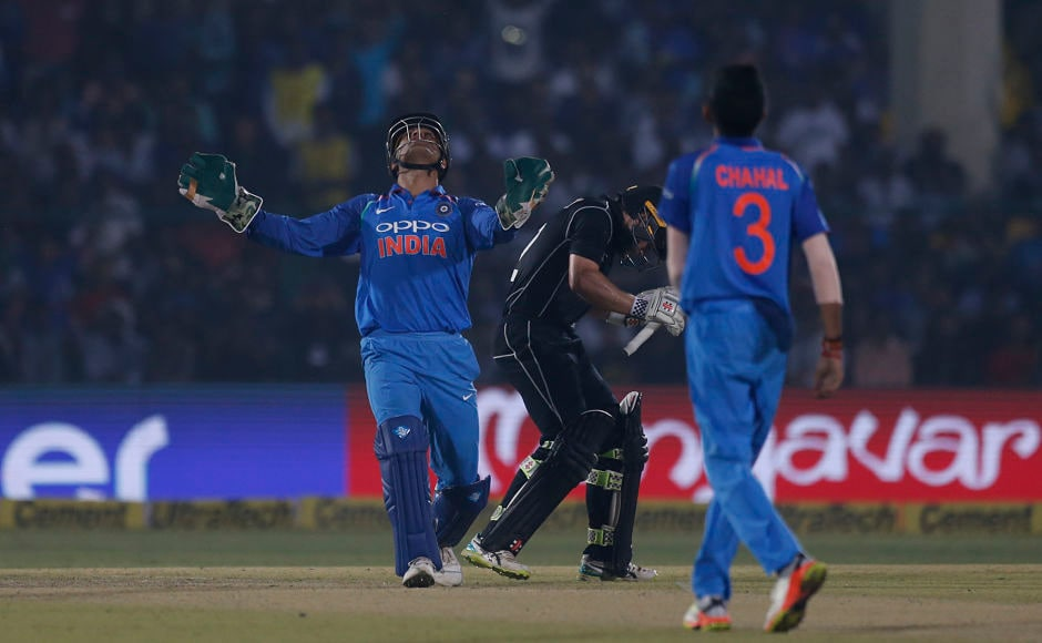 Yuzvendra Chahal had a memorable night scalping the big wicket of Kane Williamson. Indian leggie finished with two wickets and 47 runs in his 10 overs. AP