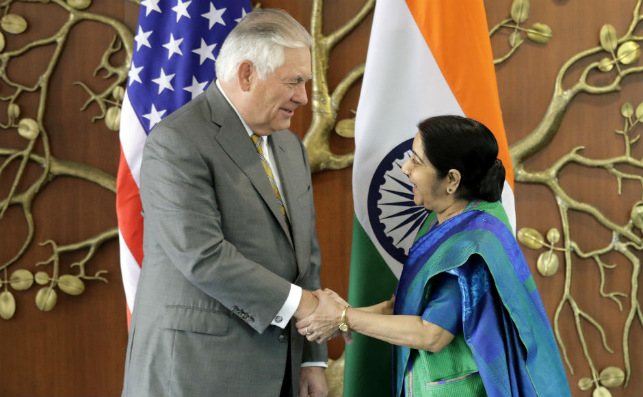 US secretary of state Rex Tillerson met Minister of External Affairs Sushma Swaraj on Wednesday. The objective of the meet was to discuss further strengthening of India-US strategic partnership and collaboration on security in the India-Pacific region. AP