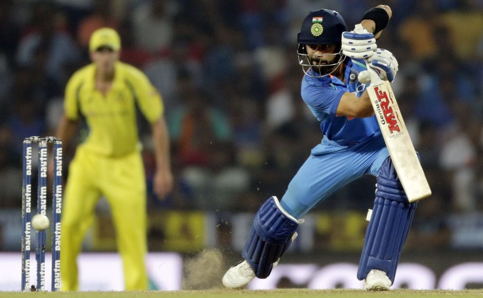 Virat Kohli (39) then joined Sharma in the middle and put on 99 runs for the second wicket. They helped India cross 200 in the 37th over, making batting look easy on a pitch where Australian batsmen struggled to get going. AP