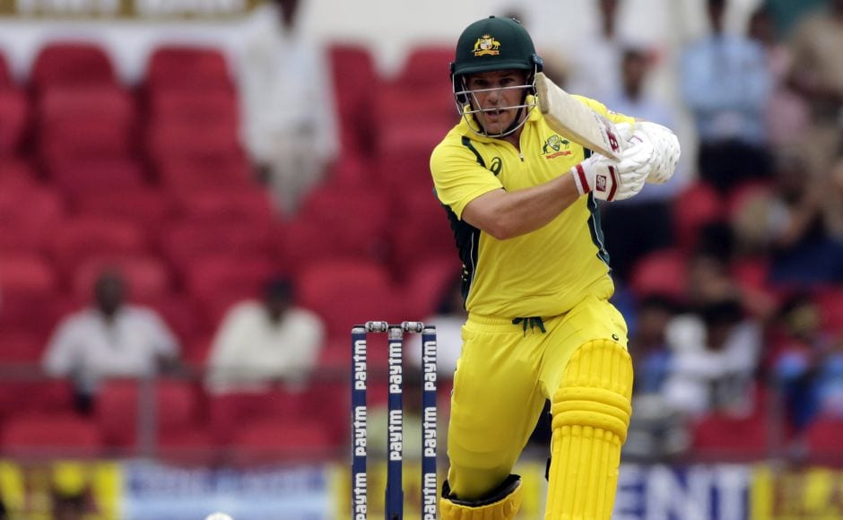 David Warner and Aaron Finch (in picture) put on 66 runs for the first wicket. AP