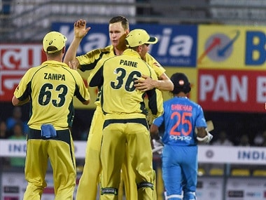 Australian pacer Jason Behrendorff wrecked the Indian top-order with four wickets. PTI