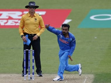 Kedar Jadhav bowled his full quota of overs against Australia in Nagpur. AFP
