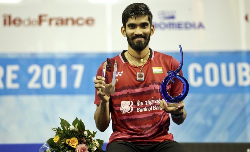 French Open Superseries: Kidambi Srikanth wins title at a canter, but worries rise over a knee niggle