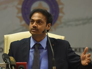File image of chief selector MSK Prasad. AFP