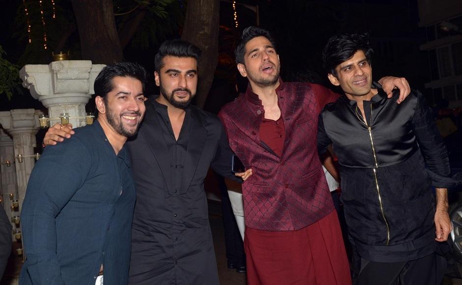Arjun Kapoor and Siddharth Malhotra with friends. Photo: Sachin Gokhale/Firstpost