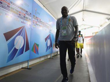 Jonas Komla, head Coach of Mali arrives ahead of the FIFA U-17 World Cup India 2017 Group B match between Turkey and Mali. Getty