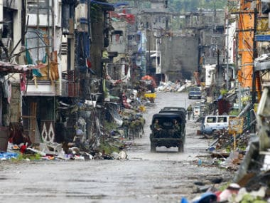 Marawi has been destroyed due ti the conflict with the Islamic State. AP