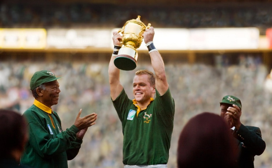 Matt Damon delivered a phenomenal performance in the 2009 sports drama film, Invictus. Directed by Clint Eastwood, the film also starred screen veteran Morgan Freeman in the lead role along with Damon. While Freeman played the South African President Nelson Mandela in the film, Damon was seen as François Pienaar, the captain of the South Africa rugby union team, the Springboks. Image via Facebook/ Invictus.