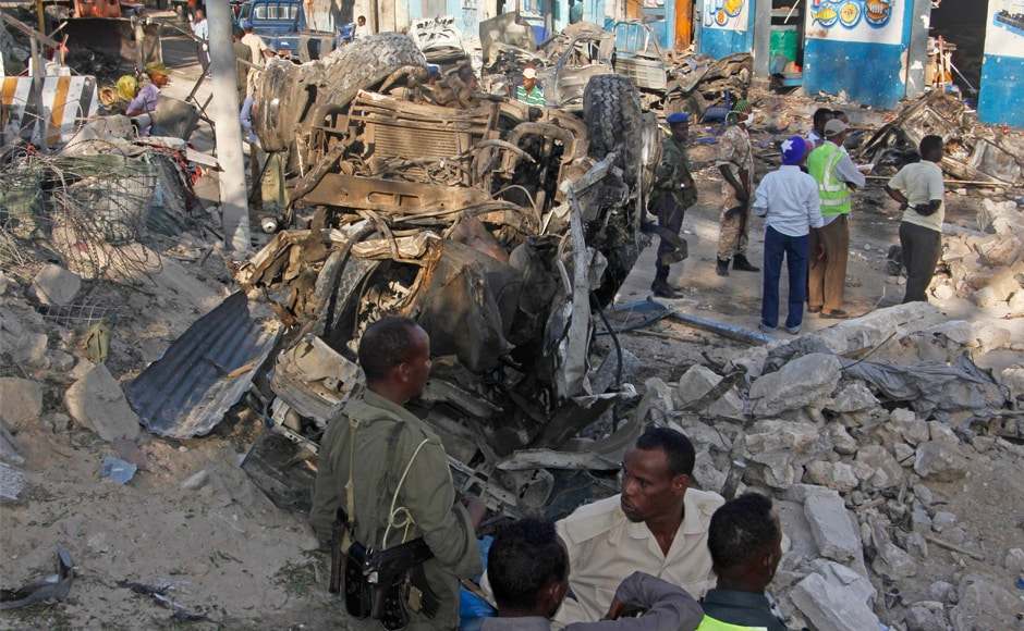 Al-Shabab, Africa's deadliest Islamic extremist group, quickly claimed responsibility for Saturday's attack and said its fighters were inside the hotel. Witnesses in some previous attacks have said al-Shabab fighters disguised themselves by wearing military uniforms. AP