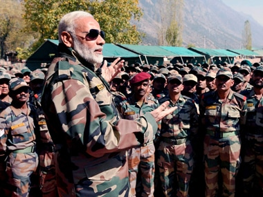 Narendra Modi celebrates Diwali with troops at Gurez sector in Jammu and Kashmir, says he considers them family