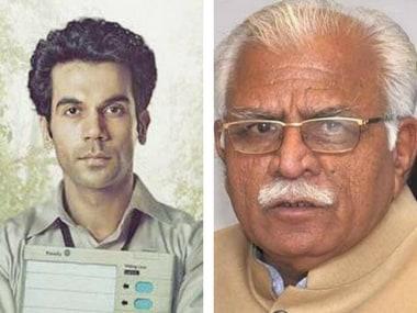 Rajkummar Rao's 2017 film Newton (left); Haryana CM Manohar Lal Khattar