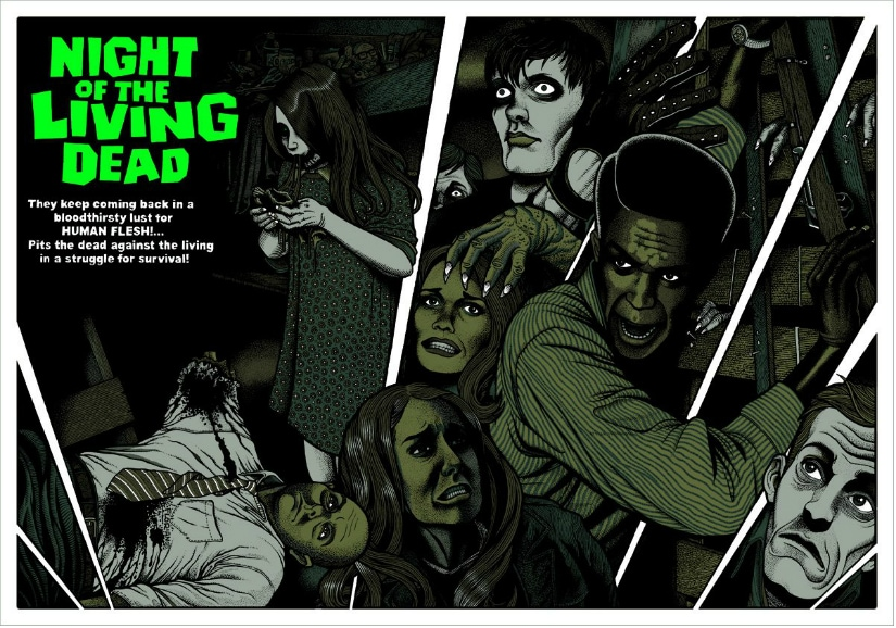 George Romero's Night of the Living Dead is considered the progenitor of the modern zombie apocalypse sub-genre of horror films. Mondo