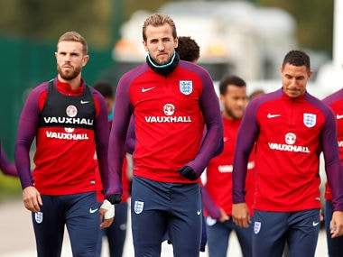 Soccer Football - 2018 World Cup Qualifications - Europe - England Training - Tottenham Hotspur Training Ground, London, Britain - October 4, 2017 England's Harry Kane during training Action Images via Reuters/John Sibley - RC18758224E0