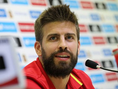 File image of Barcelona's  Gerard Pique. Reuters