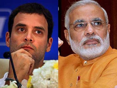 File images of Rahul Gandhi and Narendra Modi