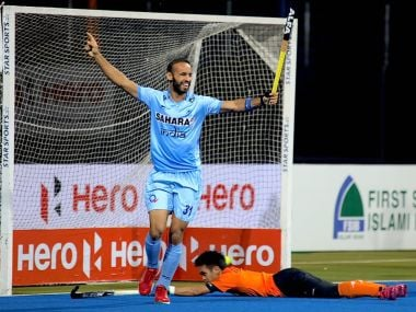 Ramandeep scored from a rebound after his initial deflection from SV Sunil's cross hit the post. Twitter/@MisraSundeep