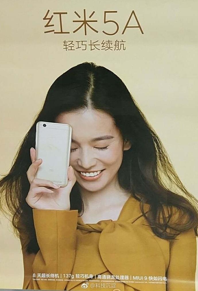 Redmi 5A Poster. Image: GizmoChina