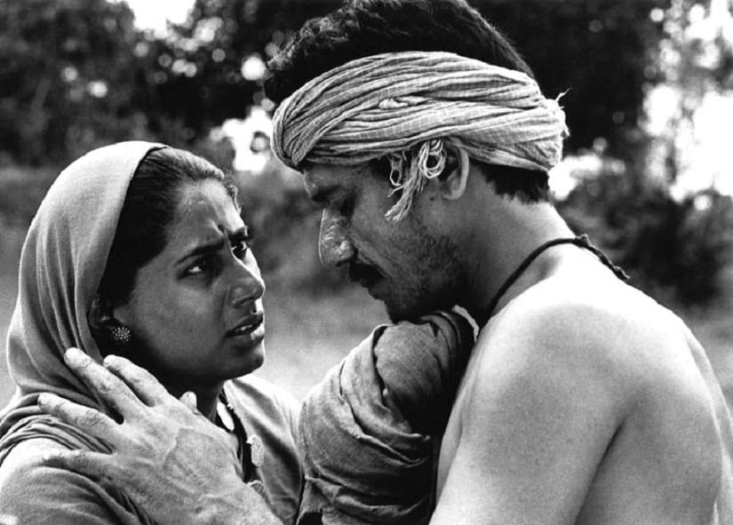 Still from Sadgati, starring Smita Patil and Om Puri