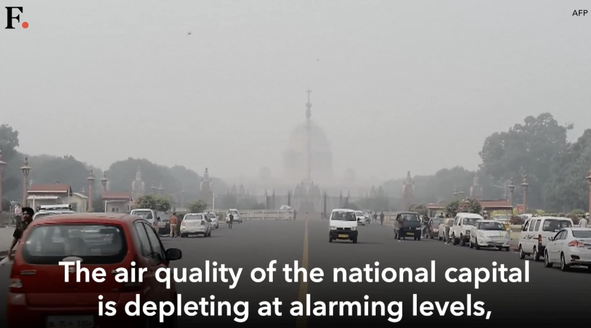 Air quality in New Delhi deteriorates as pollutant levels increase drastically