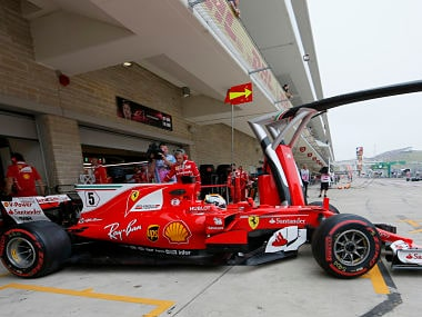United States Grand Prix: Ferrari replace chassis of Sebastian Vettel's car after he faces problems in practice