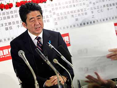 Shinzo Abe wins overwhelming mandate in Japan election: Victory likely to harden stance on North Koreas nuclear threat