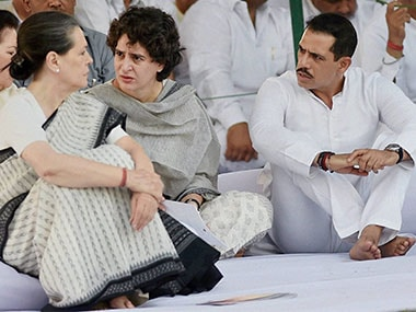 File image of Sonia Gandhi with daughter Sonina Gandhi and son-in-law Robert Vadra. PTI