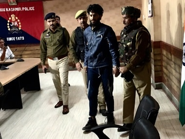 A militant arrested by the Jammu and Kashmir police. Sameer Yasir
