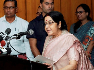 Sushma Swaraj meets ex-Bangladesh PM Khaleda Zia in Dhaka; discuss upcoming polls
