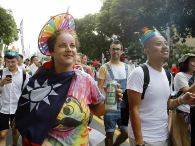 Taiwan holds Asias largest gay pride parade, thousands march in Taipei demanding legalisation of same-sex marriage