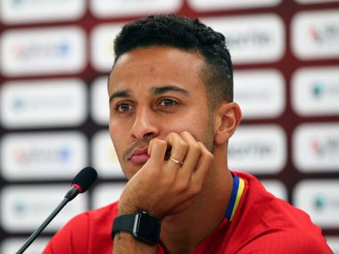 Football Soccer - Spain News Conference - World Cup 2018 Qualifiers - Loro Borici Stadium, Shkoder, Albania - 8/10/16. Spain's Thiago Alcantara attends a news conference. REUTERS/Antonio Bronic - S1BEUFVLMYAA