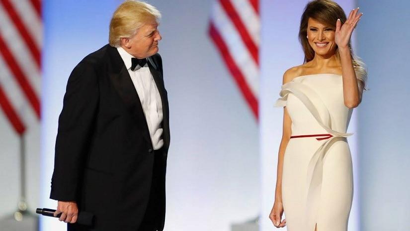 US President Donald Trump and First Lady Melania Trump at the Inaugural Ball. Image via Facebook