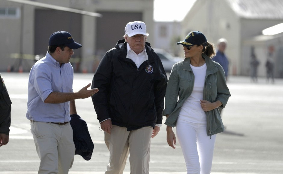 There has been anger in Puerto Rico that Trump chose to visit Guaynabo — a relatively affluent area, where most homes are of weather-proof concrete — unlike in the worst-hit areas of the island. AP