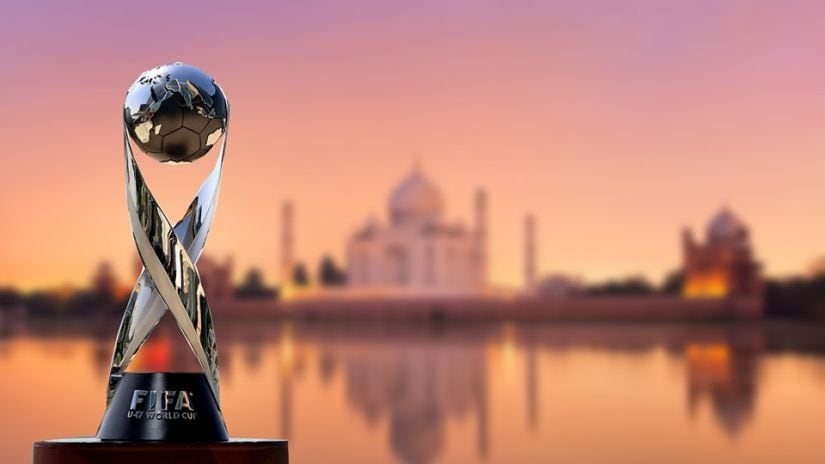 The FIFA U-17 World Cup 2017 trophy. Image courtesy: Twitter