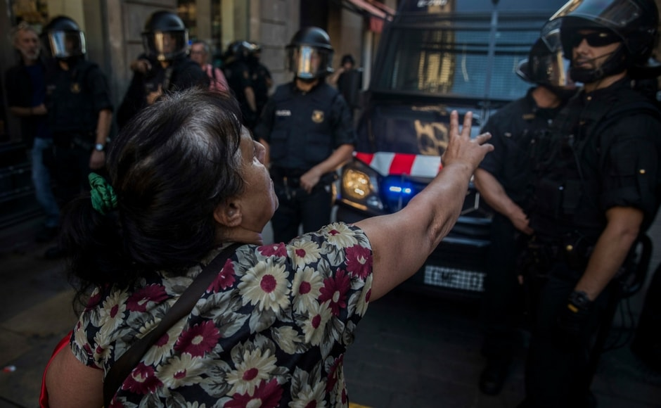 The Catalan crisis was triggered by a banned independence referendum on 1 October that was shunned by many and marred by police violence. AP