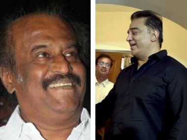 File images of Rajnikanth (L) and Kamal Haasan (R)