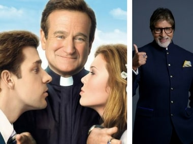 Poster of the film License to Wed (left); Amitabh Bachchan. Image courtesy: Facebook