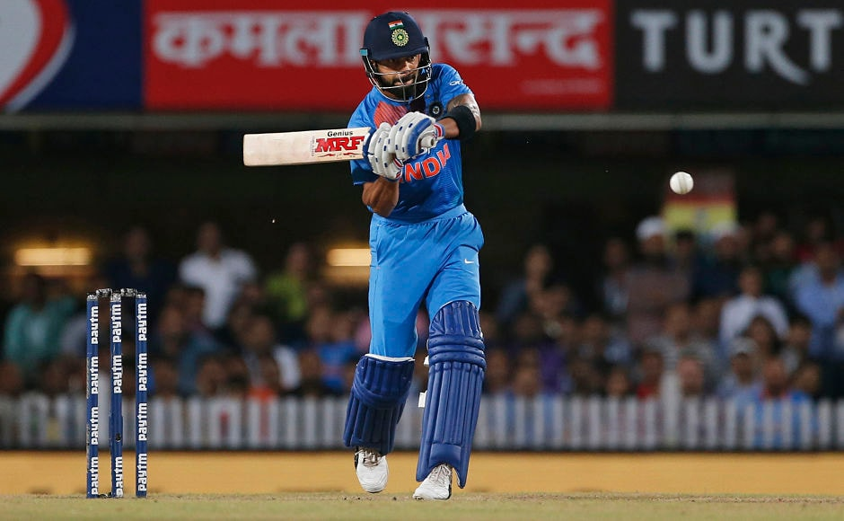 But India captain Virat Kohli calmed the nerves and hit the winning runs over covers to help India go 1-0 up in the 3-match series. AP