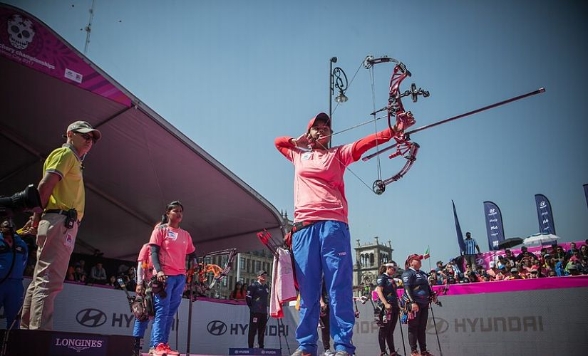 India won the silver in compound team archery section at the World Championships. Image courtesy: World Archery official website