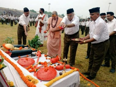 Bhaiyyaji Joshi at RSS function in Raipur. Twitter @rss_org