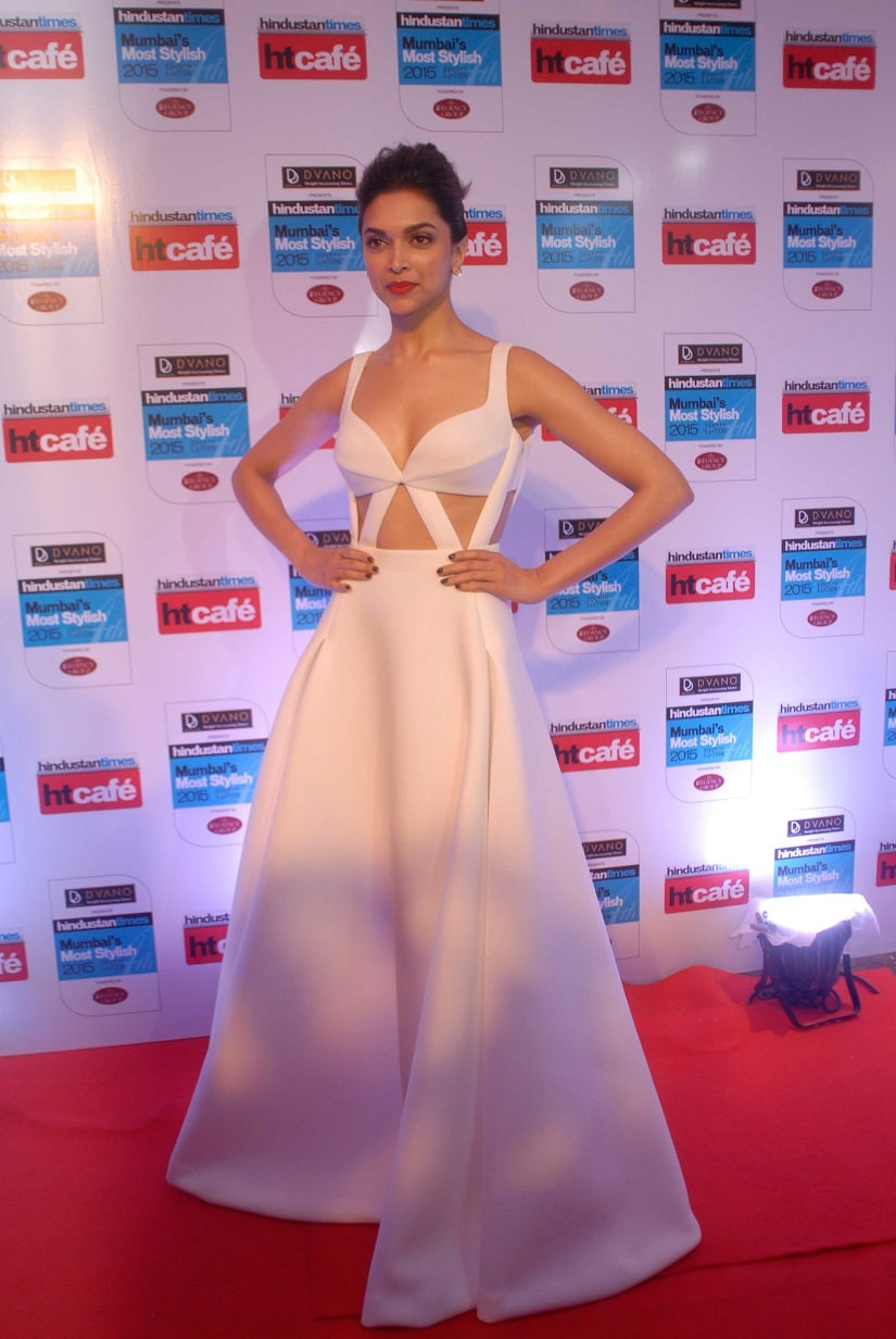 Deepika Padukone during the Hindustan Times Mumbai's Most Stylish Awards 2015. Image from Getty Images.