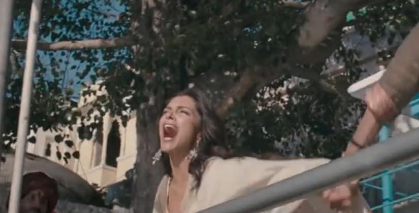 Youtube screen grab of Deepika Padukone in Ram Leela.