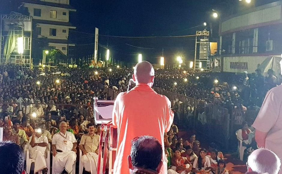 "BJP chief Amit Shah had flagged off party's ambitious ""padayatra"" that will wind up on 16 October in Thiruvananthapuram covering 11 districts of Kerala. Twitter@BJP4UP"