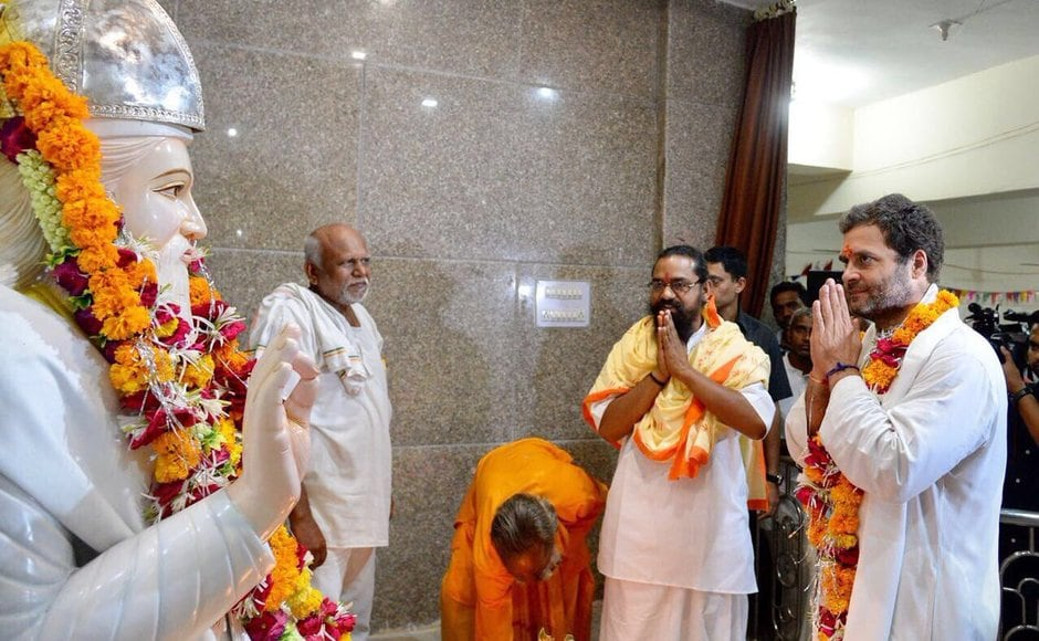 <br />Gandhi made several stops on the last day of the Navsarjan Yatra and spoke to people on issues ranging from unemployment, to tribal rights. Gandhi also visited the Kabir Mandir in Saliya, Dahod. Twitter@OfficeOfRG