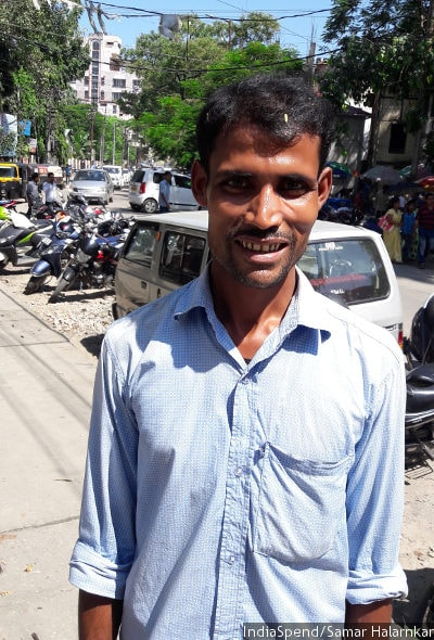 Tuffazul Islam, who cannot remember if he is 34 or 36, spent Rs 1.3 lakh, almost all his savings, in court after local police–he refused them a bribe, he says–asked him to prove his citizenship. After two years and a change in lawyers, a foreigners tribunal accepted he was Indian. Islam sells clothes for infants from a cycle in downtown Guwahati. IndiaSpend