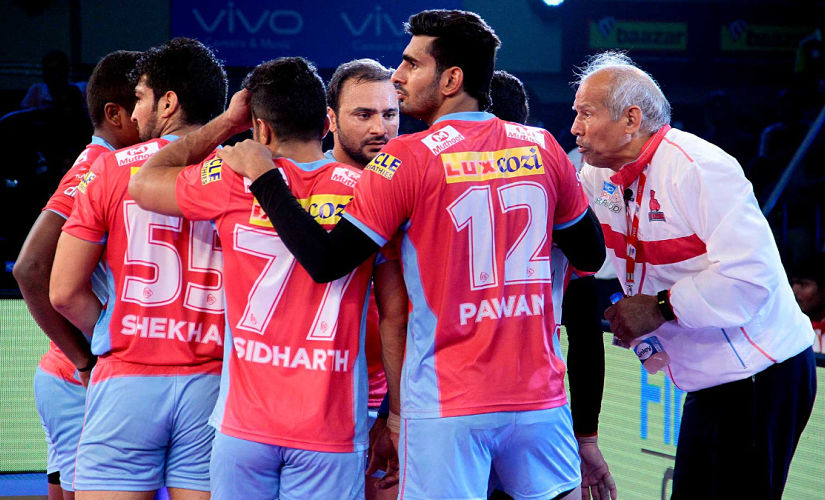 Jaipur Pink Panthers begin their home campaign on Friday against table toppers Gujarat Fortunegiants. Image courtesy: PKL official website