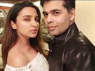 Karan Johar and Parineeti Chopra. Image via Twitter