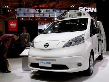 Nissan unveils concept model of an electric van with refrigeration capabilities