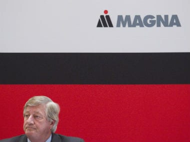 Magna International is joining the self-driving cars bandwagon. Reuters.