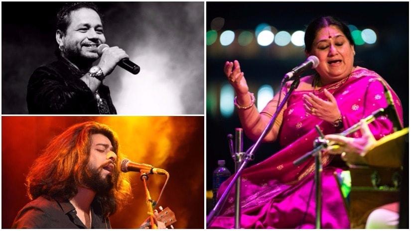 Mahindra Kabira Festival 2017 performers (clockwise from top left) Kailash Kher, Shubha Mudgal, Harpreet Singh