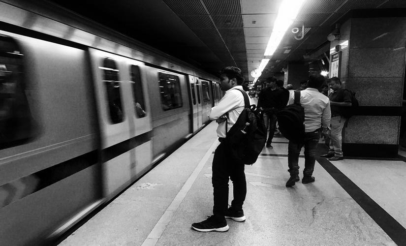 Commuters at the Delhi metro. Pallavi Rebbapragada/Firstpost